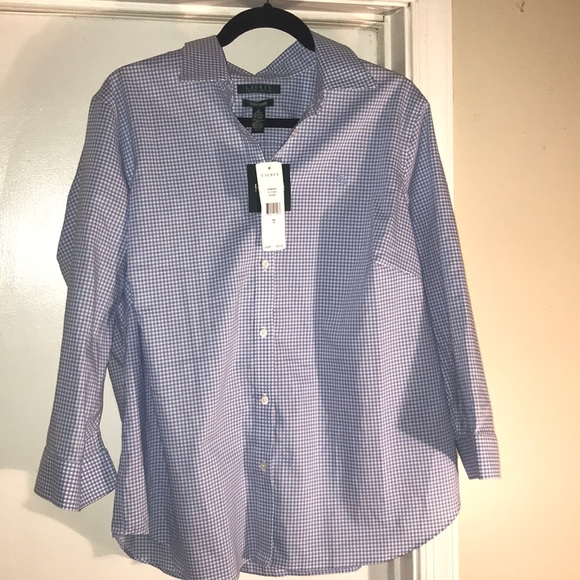fb1fc35b1 Ralph Lauren Tops   Gingham Check Ladies Shirt New   Poshmark